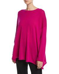 Eskandar - Cashmere Boat-neck Long-sleeve A-line Long Sweater - Lyst
