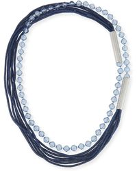 Lafayette 148 New York | Bead And Mesh Long Necklace | Lyst