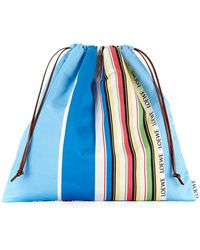 Loewe - Large Drawstring Pouch Stripes - Lyst