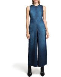 PRPS - Leaf High-neck Wide-leg Denim Jumpsuit - Lyst