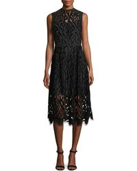 Shoshanna - Glengarry Sleeveless Lace Illusion Cocktail Dress - Lyst