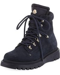 Moncler - Men's Egide Suede Hiking Boots - Lyst
