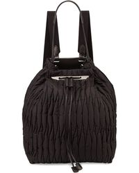 The Row - Quilted Nylon Drawstring Backpack - Lyst