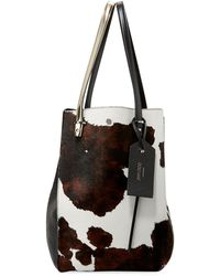 Jimmy Choo - Twist Men's Cow-print Calf-hair Tote Bag - Lyst