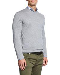 Neiman Marcus - Men's Cashmere/silk Crewneck Sweater - Lyst