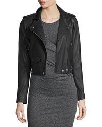 IRO - Ashville Cropped Leather Jacket - Lyst