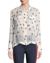 Rag & Bone - Star Embroidered Shirt - Lyst