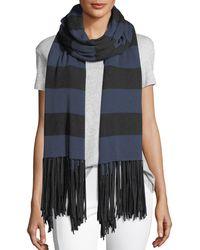 Lamade | Striped Fringe Cardigan Wrap | Lyst