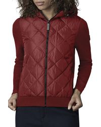 Canada Goose - Hybridge Knit & Quilted Hoodie - Lyst
