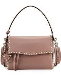 Valentino | Rockstud Smooth Top Handle Bag | Lyst