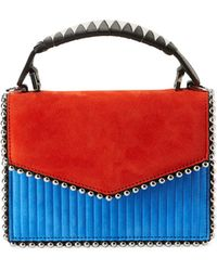 Les Petits Joueurs - Lulu Colorblock Top Handle Bag - Lyst