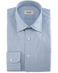Neiman Marcus - Small-check Dress Shirt - Lyst