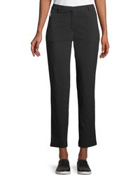 Anatomie - Thea Straight-leg Ankle-length Pants W/ Side Zip Pockets - Lyst