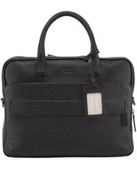 Lyst - Giorgio Armani Leather Briefcase in Black for Men f617c42a912fe