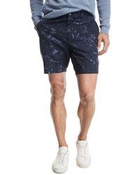 Michael Kors - Tropical Print Cotton-stretch Shorts - Lyst