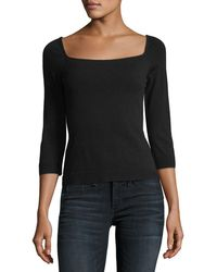 MILLY | Square-neck Pullover | Lyst