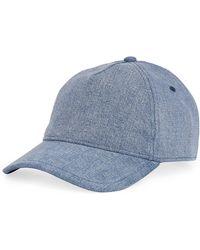d03a8ec335a Lyst - Rag   Bone Dylan Cotton Baseball Cap in Blue for Men