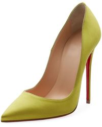 Christian Louboutin - So Kate 120mm Crepe Satin Red Sole Pump - Lyst