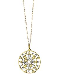 Monica Rich Kosann - 18k Gold Yellow Sapphire & Rock Crystal Kaleidoscope Pendant Necklace - Lyst