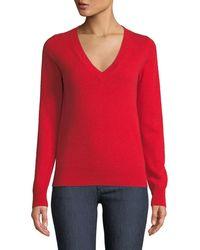Neiman Marcus - Cashmere V-neck Sweater - Lyst