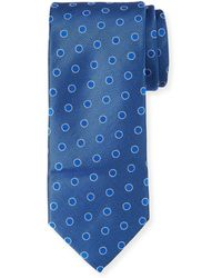 Canali - Textured Dot Silk Tie - Lyst