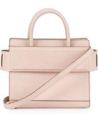 b1b10040e7 Givenchy Horizon Mini Fur-trimmed Tote Bag in Black - Lyst