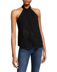 517eeba5c5d Joie - Leikyn Sleeveless Self-tie Fringe Top - Lyst