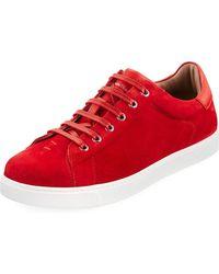 Gianvito Rossi - Men's Suede Low-top Sneaker - Lyst