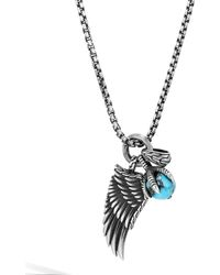 John Hardy - Sterling Silver Legends Eagle Turquoise With Pyrite Amulet Pendant Necklace - Lyst