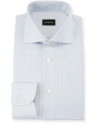 Ermenegildo Zegna - Men's Graph Check Dress Shirt - Lyst