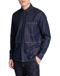64c39098 Rag & Bone Plaid Yokohama Shirt in Gray for Men - Lyst