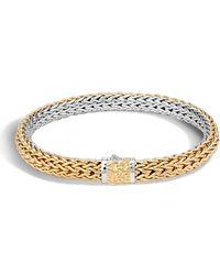 John Hardy - Men's Classic Chain Two-tone Bracelet - Lyst