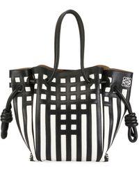 Loewe - Flamenco Knot Grid Tote Bag - Lyst