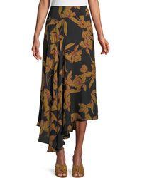 A.L.C. - Lev A-line Floral-print Silk Midi Skirt - Lyst