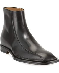 Versace - Men's Side-zip Leather Ankle Boots - Lyst