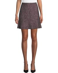 Club Monaco - Alvara Tweed Short Skirt - Lyst