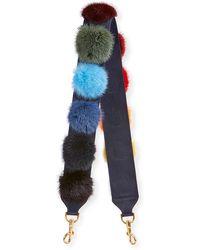 Anya Hindmarch - Fur Pompom Shoulder Strap For Handbag - Lyst