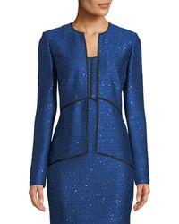St. John - Luster Sequin Knit V-neck Jacket - Lyst