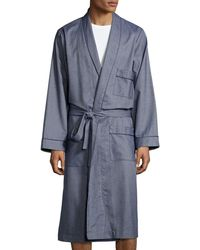 Neiman Marcus - Tweed Robe With Piping Blue - Lyst