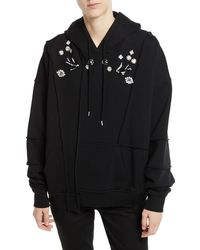 McQ - Ergonomic Embellished Hoodie W/ Exposed Seams - Lyst