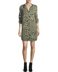 Equipment - Freeda Field-dreams Long-sleeve Silk Shift Dress - Lyst