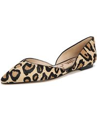 Sam Edelman - Rodney Pointed-toe Leopard Flats - Lyst