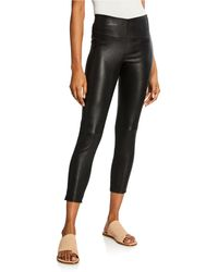 125e69f3549166 Theory Adbelle Leather Leggings in Black - Lyst