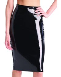 Commando - Perfect Patent Faux-leather Midi Skirt Shaper - Lyst