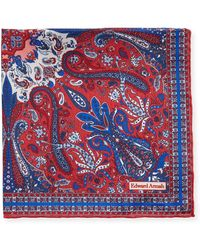 Edward Armah - Men's Classic-border Paisley Pocket Square - Lyst
