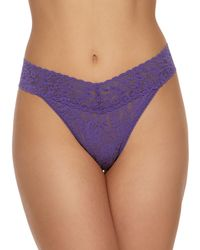 Hanky Panky - Stretch Lace Original-rise Thong - Lyst