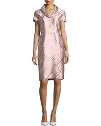ESCADA - Broken Plaid Jacquard Roll-neck Dress - Lyst