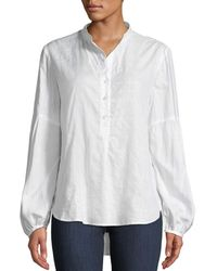 Finley - Olivia Silver Strings Button-down Top - Lyst