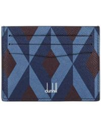 Dunhill - Cadogan Diamond-print Business Card Case - Lyst