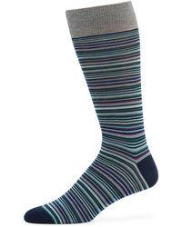 Neiman Marcus - Men's Multi-stripe Socks - Lyst